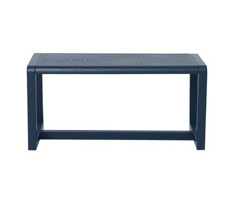 Ferm Living Banca Piccolo Architetto blu scuro cenere impiallacciatura 62x30x30cm