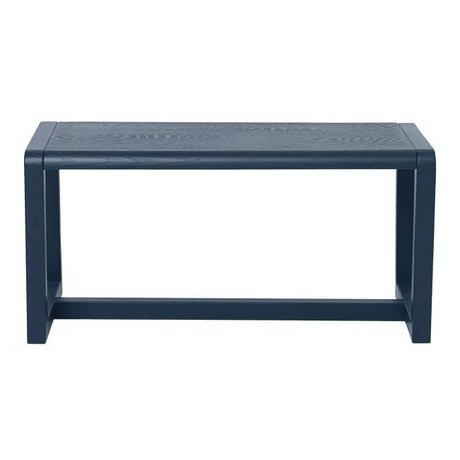 Ferm Living Bench Little Architect dark blue ash veneer 62x30x30cm