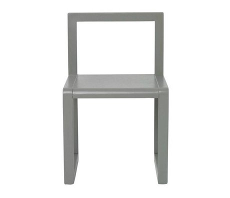 Ferm Living Stol Lille Arkitekt grå aske finer 32x51x30cm