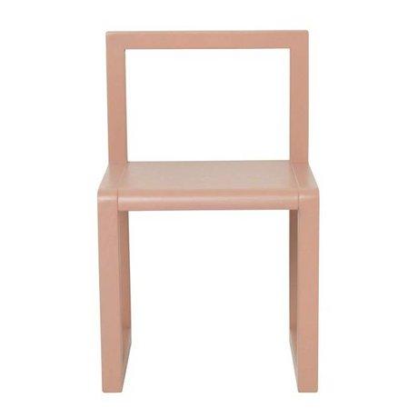 Ferm Living Stol Lille Arkitekt lyserød aske finer 32x51x30cm