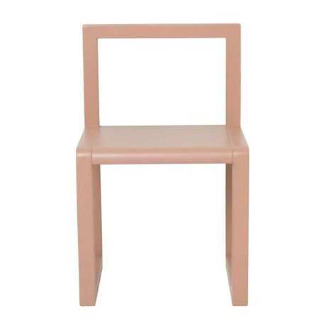 Ferm Living Stuhl Little Architect rosa Eschenfurnier 32x51x30cm
