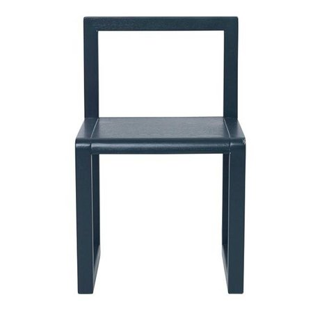 Ferm Living Chair Little Architect dark blue ash veneer 32x51x30cm
