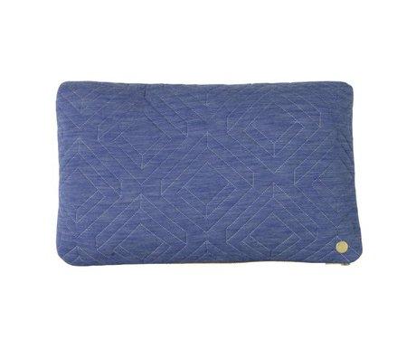 Ferm Living Quilt pude lyseblå tekstil 40x25cm
