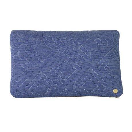 Ferm Living Kissen Quilt hellblau Textil 40x25cm