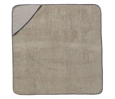 Ferm Living toalla con capucha bebé Sento gris 98x98cm algodón orgánico