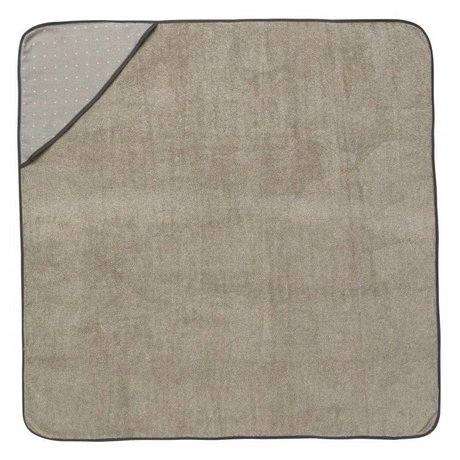 Ferm Living Baby Hooded Towel Sento gray organic cotton 98x98cm