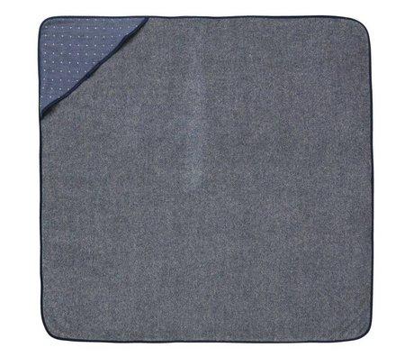 Ferm Living Baby hætteklædte håndklæde Sento blå økologisk bomuld 98x98cm