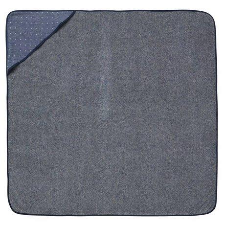 Ferm Living Baby Hooded Towel Sento blue organic cotton 98x98cm
