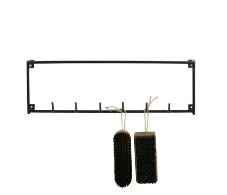 LEF collections Meert wardrobe 6 hooks black