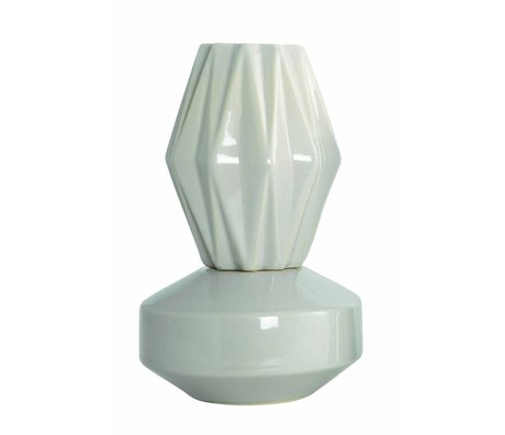 "Housedoctor Vase ""VIP"", couleur sable, Ø13, 5x21cm"