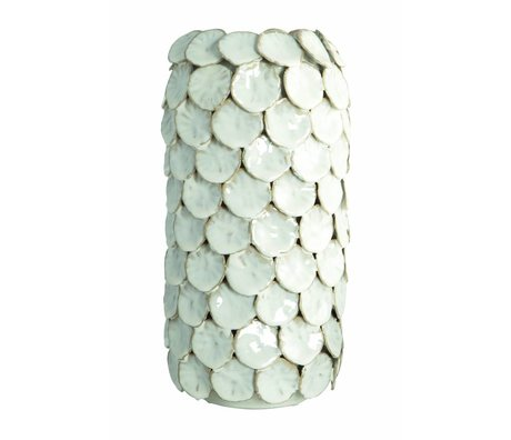 Housedoctor Vase 'Dot', white, Ø15x30cm
