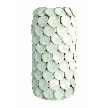 Housedoctor Vase 'Dot', weiß, Ø15x30cm