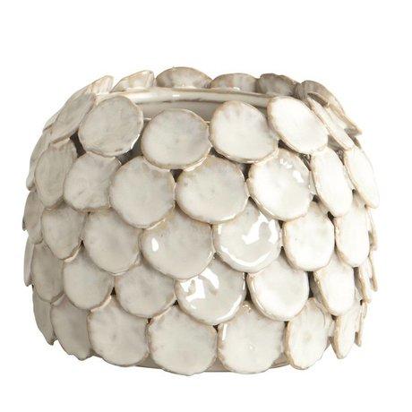 "Housedoctor Vase ""Dot"", blanc, Ø15x10cm"