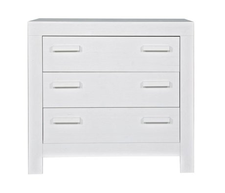 LEF collections Kommode 'New life' aus gebürsteter Kiefer, weiß, 95x52x91cm