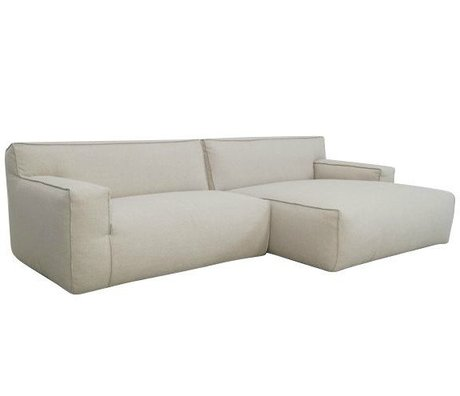 FÉST Couch `Clay ', Sydney22 beige, 1.5-seater / Longchair left or right