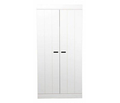 LEF collections 'Connect' due strisce di porta porta pino bianco 195x94x53cm Wardrobe