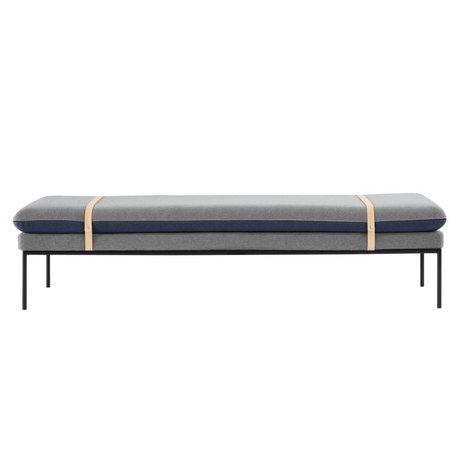 Ferm Living Banque tour bleu 190x42x80cm daybed textile gris