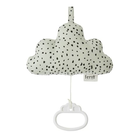 Ferm Living Music Mobile Cloud mint green cotton 16x10cm