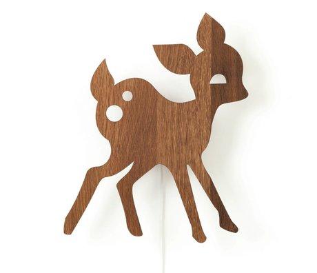 Ferm Living Lampe My Deer braun Eichenholz 27x38,5cm