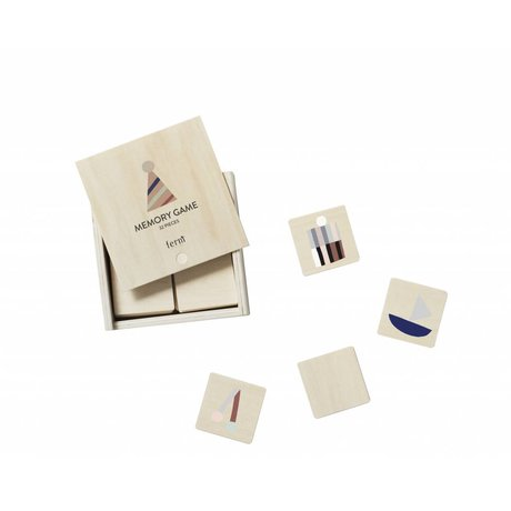 Ferm Living Memory Game Party multicolor Sperrholz 12x12x4cm