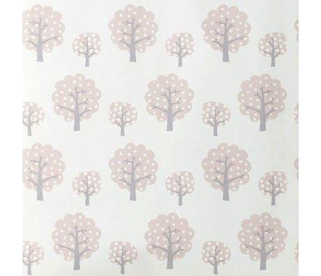 Ferm Living Fond d'écran Dotty rosa papier gris 10x0,53m