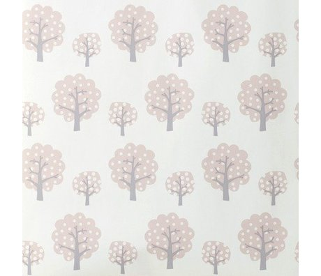 Ferm Living Wallpaper Dotty pink gray paper 10x0.53m