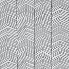 Ferm Living Wallpaper Herringbone Black white paper 10x0.53m