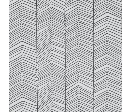 Ferm Living Wallpaper Herringbone Black white paper 10x0.53m