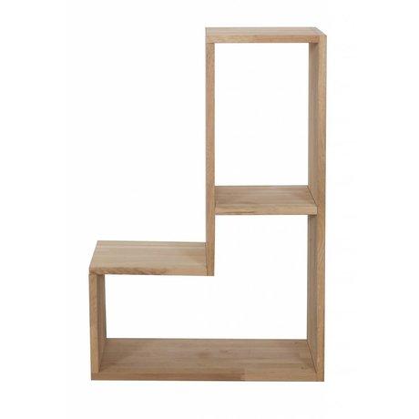 LEF collections Chêne, nature, 80x27x54cm Cabinet 'Tetris