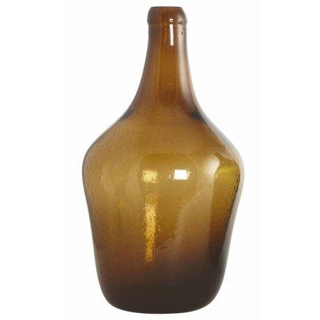 Housedoctor Flaske / vase 'Rec' blæst glas, brun, Ø23x41cm