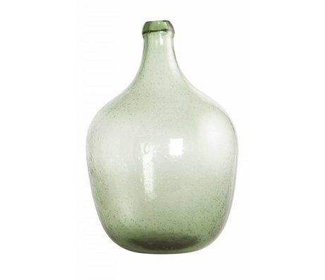 Housedoctor Flaske / vase 'Rec' blæst glas, lys grøn, Ø19.5x28.5cm