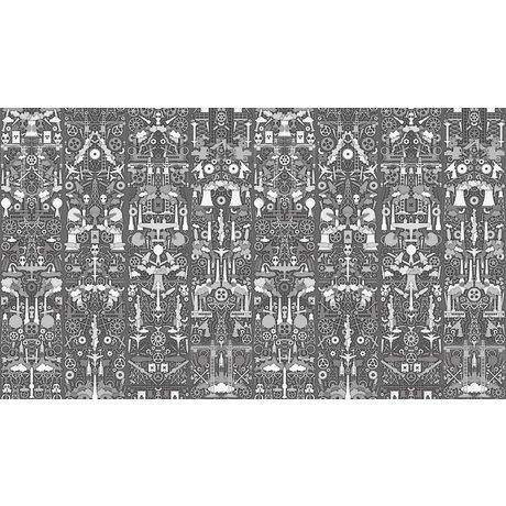 "NLXL-Studio Job Wallpaper ""Industry 01"" paper, gray / white, 900x48.7cm"