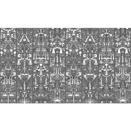 "NLXL-Studio Job Wallpaper papier ""01 Industrie"", gris / blanc, 900x48.7cm"