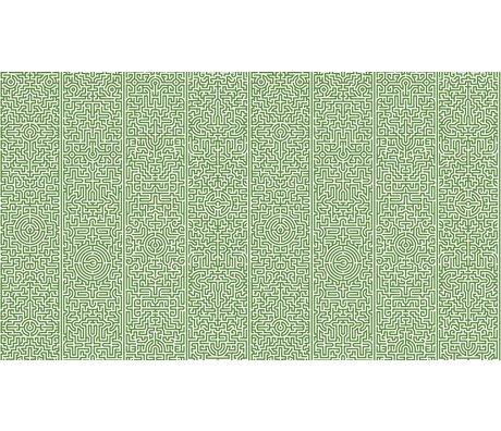 """NLXL-Studio Job Fondo de pantalla de papel """"Laberinto 02"""", verde / blanco, 900x48.7cm"""