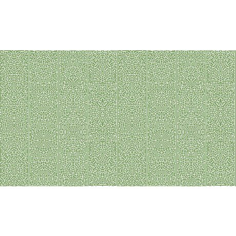 "NLXL-Studio Job Wallpaper ""Labyrinth 02"" paper, green / white, 900x48.7cm"