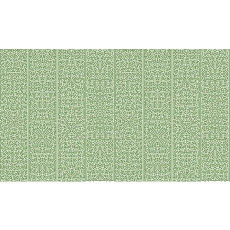 "NLXL-Studio Job Wallpaper ""Labyrinth 02"" paper, green / white, 900x48.7cm"