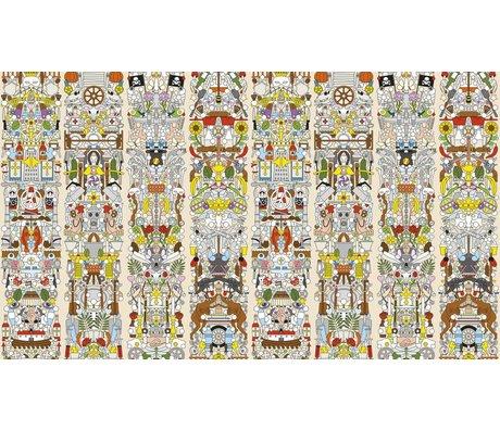 "NLXL-Studio Job Wallpaper ""Old German 04"" paper, 900x48.7cm"