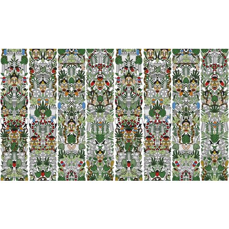 """NLXL-Studio Job Wallpaper """"l'Afrique 05"""" di carta, 900x48.7cm"""