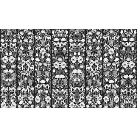 "NLXL-Studio Job Wallpaper ""flores marchitas negro 06"" de papel, 900x48.7cm"