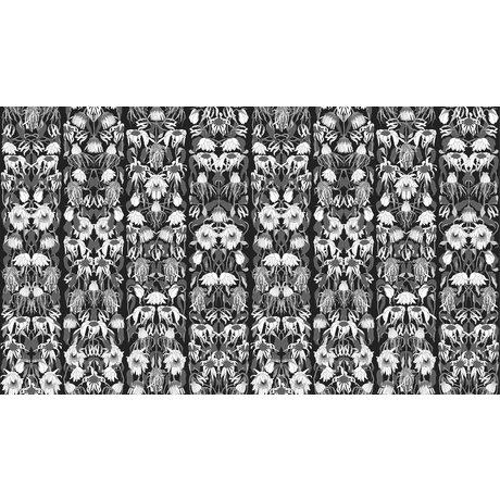 "NLXL-Studio Job Wallpaper ""Withered flowers black 06"" paper, 900x48.7cm"