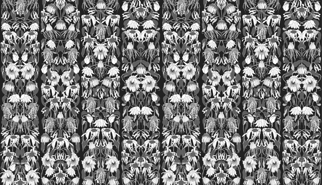 Nlxl Studio Job Wallpaper Withered Flowers Black 06 Paper 900x48