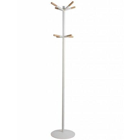 Zuiver Garderobe aus Holz, weiß dip, 39,5 x175,5cm