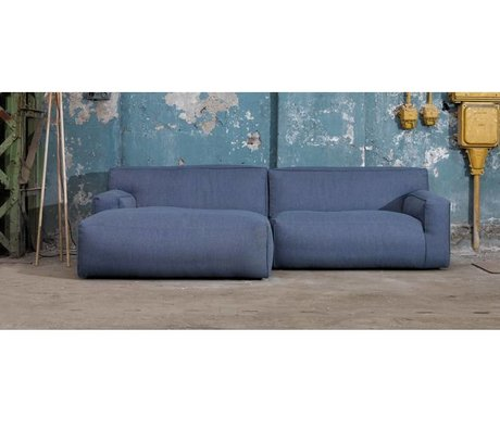 FÉST Couch `Clay ', Sydney80 dark blue, 1.5-seater / Longchair left or right