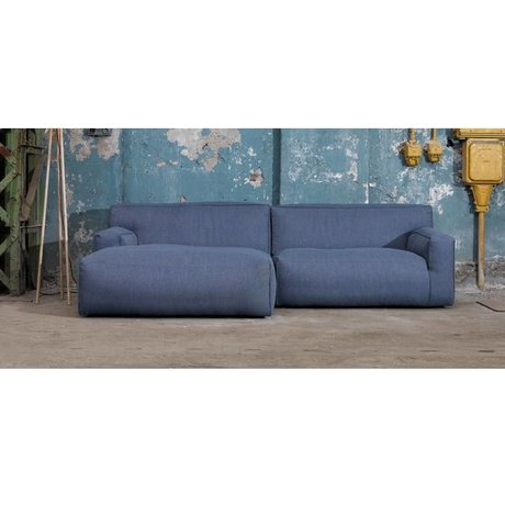 FÉST Sofá `Clay, Sydney80 azul oscuro, 1,5 plazas / Longchair izquierda o derecha