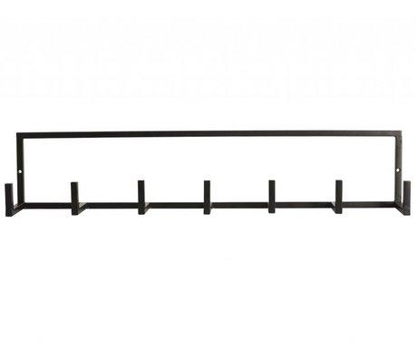 """Housedoctor Armadio """"cremagliera"""" di metallo, nero, 60x12cm"""