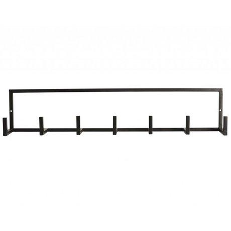 """Housedoctor Armario """"rack"""" de metal, negro, 60x12cm"""