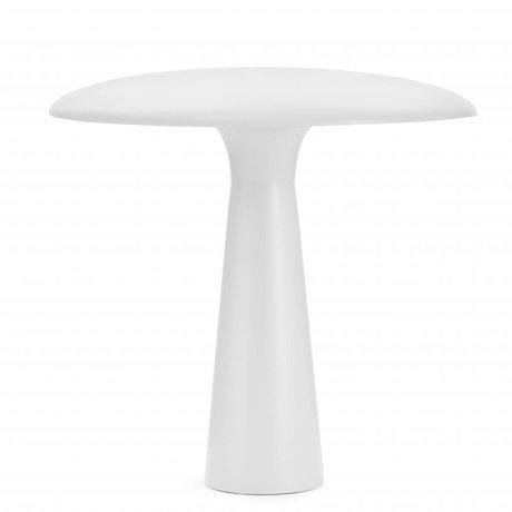 Normann Copenhagen lampada da tavolo Shelter Ø41x41cm acciaio bianco
