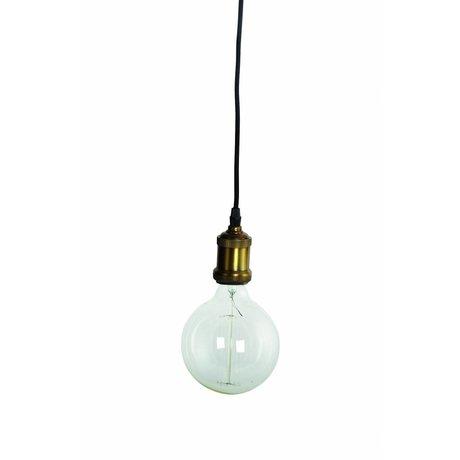Housedoctor Flyv hængende lampe, messing / guld, Ø4,5x14cm