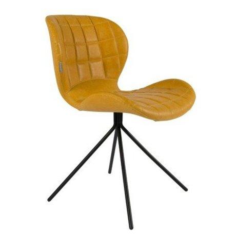 Zuiver chaise à manger OMG LL faux cuir jaune 51x56x80cm
