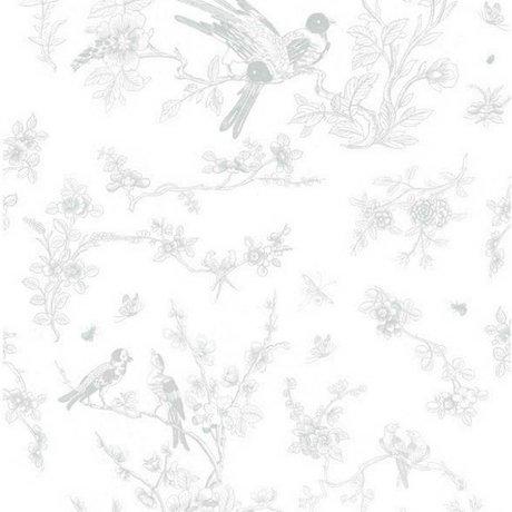 Kek Amsterdam Fondos de Aves y florecer 97,4x280cm papel de seda gris